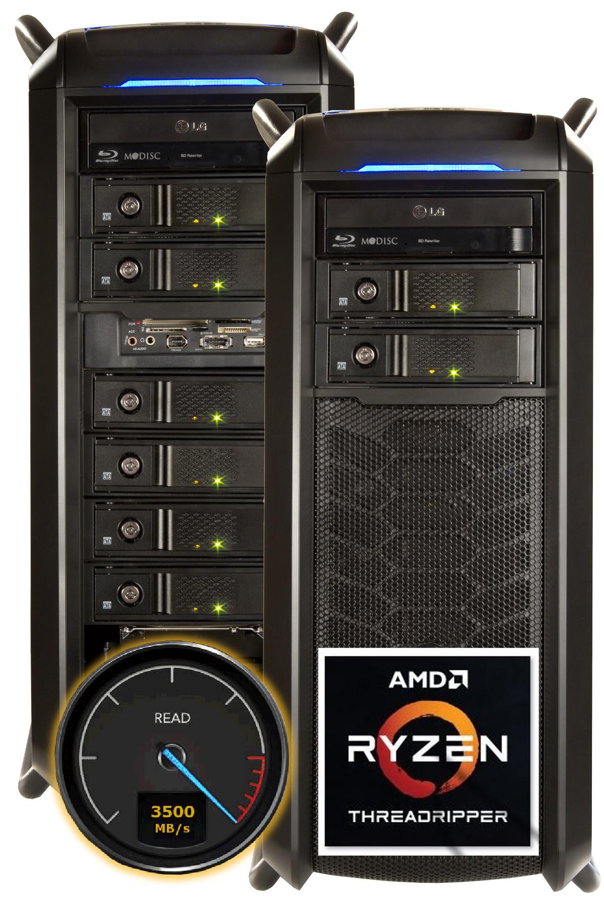 VIDEOSTATION® Gran Montaña  VRAID® AMD - 16 Kerne (Modell 2020) Abbildung kann abweichen.