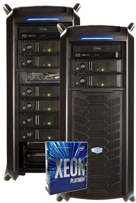 VIDEOSTATION®  Nucleo   VRAID® 20TB, 1x Xeon - 28 Kerne, 64GB RAM (Modell 2018) Abbildung kann abweichen.