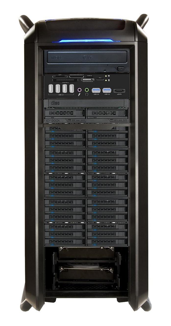 VIDEOSTATION® Gran Montaña  Ultra16xVRAID® HDD, AMD - 64 Kerne (Modell 2021) Abbildung kann abweichen.