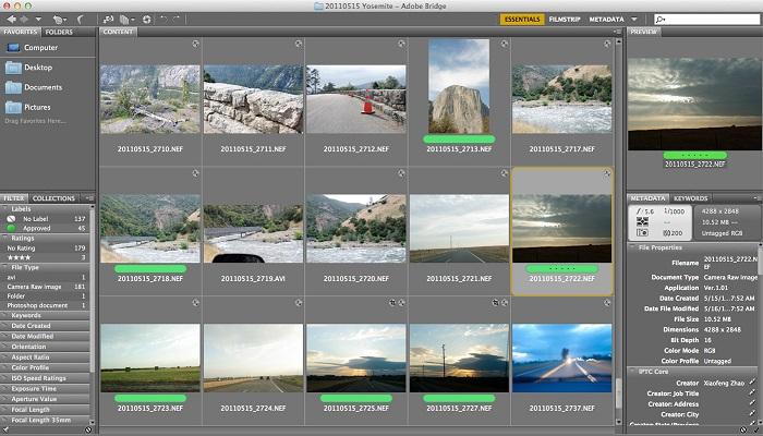 ADOBE Bridge mit VIDEOSTATION